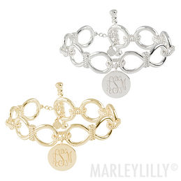 Monogrammed Chain Link Bracelet