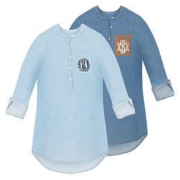 Monogrammed Chambray Shirt
