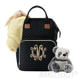 Monogrammed Diaper Backpack