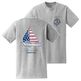 Monogrammed American Sailboat T-Shirt