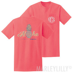 Monogrammed Aloha Pineapple T-Shirt
