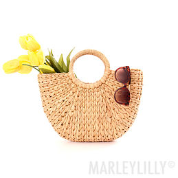 Braided Straw Tote Bag