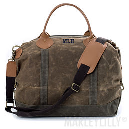 Personalized Waxed Canvas Weekender