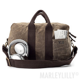 Personalized Waxed Canvas Carry-On Duffel