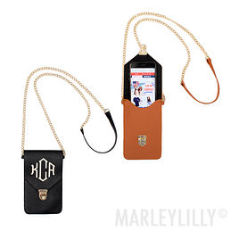 Monogrammed Phone Crossbody
