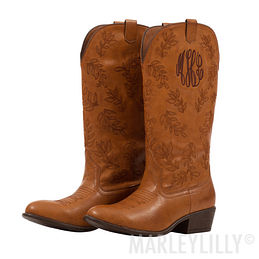 Monogrammed Cowboy Boot
