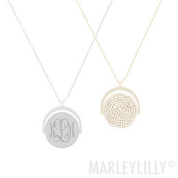 Monogrammed Spinning Pendant Necklace