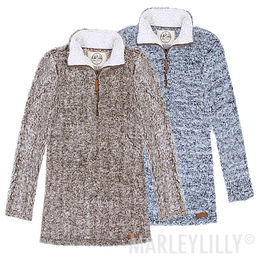 Heathered Sherpa Pullover Tunic