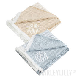 Monogrammed Woven Throw
