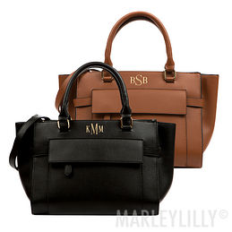 Monogrammed Harper Handbag