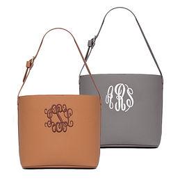 Monogrammed Hobo Bag