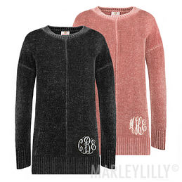 Monogrammed Chenille Sweater Tunic