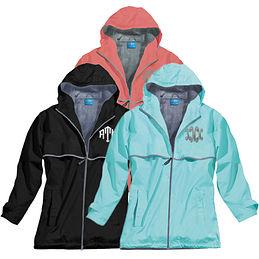 Monogrammed New England Rain Jacket