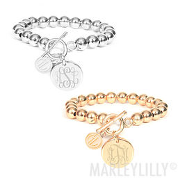 Monogrammed Ball Bracelet