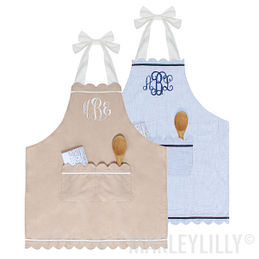Monogrammed Scalloped Apron