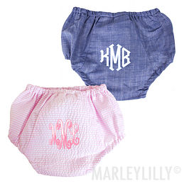 Monogrammed Baby Bloomers