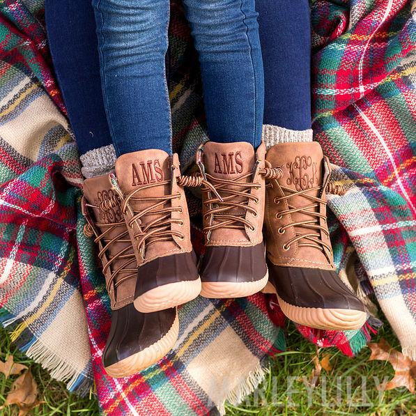 monogrammed Toddler Duck Boots