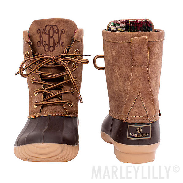 Monogrammed Youth Duck Boots