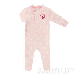 Monogrammed Baby Side Snap Sleeper