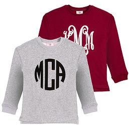 Monogrammed Kids Crewneck Sweatshirt