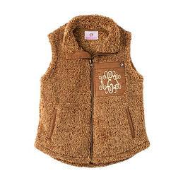 Monogrammed Kids Sherpa Vest