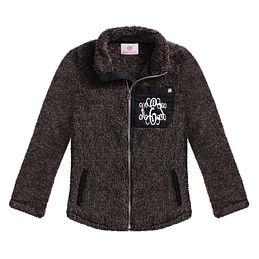 Monogrammed Kids Sherpa Jacket