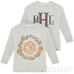 Monogrammed Youth Terry Pullover