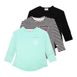 Monogrammed Kids Tunic Shirt