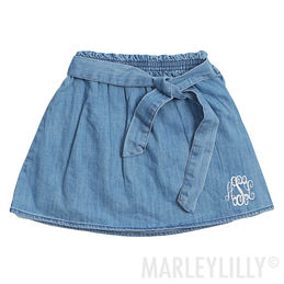 Monogrammed Baby Denim Skirt