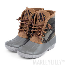 Kids Personalized Camo Duck Boots