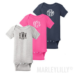 Monogrammed Baby Clothes, Blankets, and