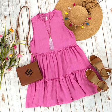 Beachy Keen Dress in Orchid