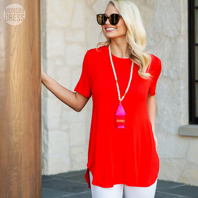 Aim High Tunic in Red