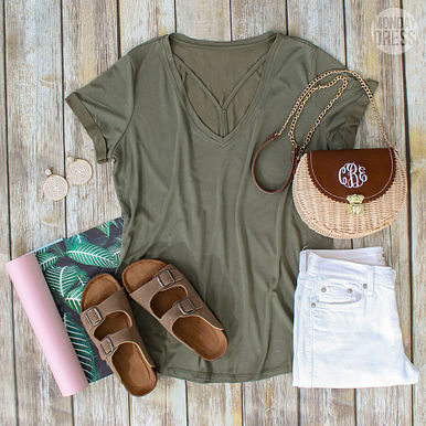 It's a Tee Party Top in Olive