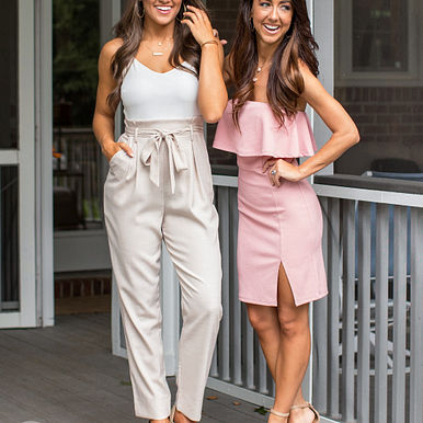 Save My Soul Jumpsuit in Taupe & One Sweet Day Dress