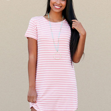 Lucky Streak Dress in Coral RESHOW