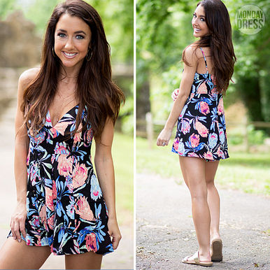 Caught Up In Your Summertime Romper