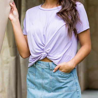 Call Out Top in Lilac