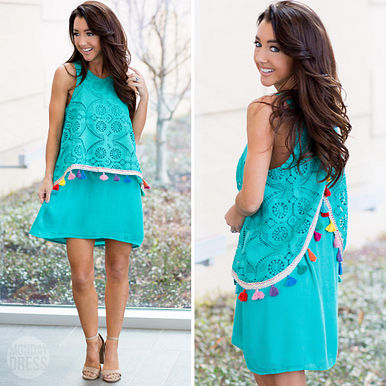 Until Sunset Dress in Jade RESHOW