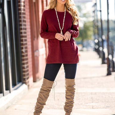 The Camilla Sweater in Burgundy