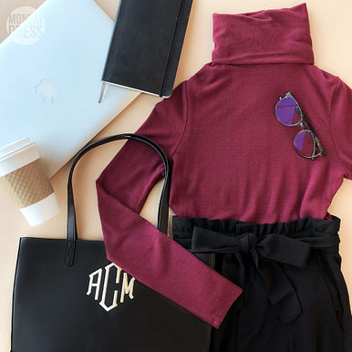 Dixie Turtleneck in Pinot