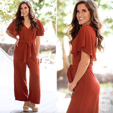 Fireproof Jumpsuit in Rust