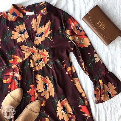 Memory Lace Dress in Wine