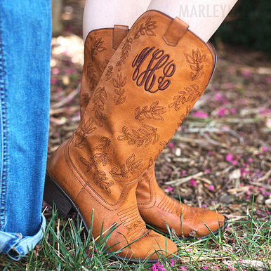 Monogrammed Cowboy Boot