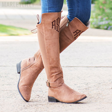 Monogrammed Riding Boot