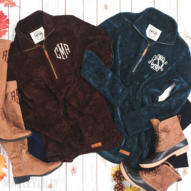 MONOGRAMMED CORDUROY PULLOVER TUNIC