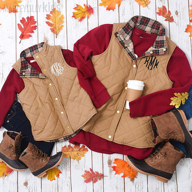 Kid's and Mom's Quilted Vests